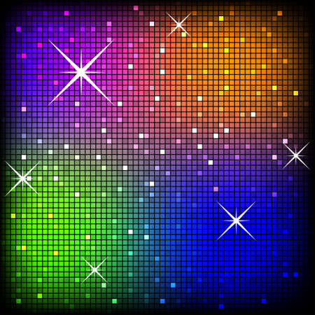 Colorful Disco Background  Stock Photo