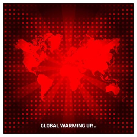 Red Global Warming Vector Background