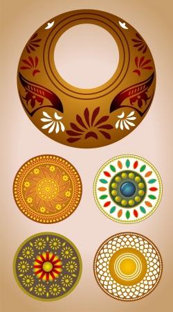 Vector ornament elements