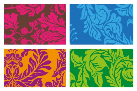 Colorful Vector Ornament Background set