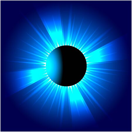 Blue Planet Iris Vector Background  photo