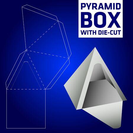 diecut: Pyramid box vector die-cut