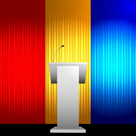 tribune: Colorful tribune vector background