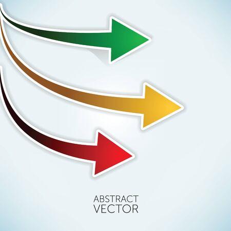 Abstract vector arrows