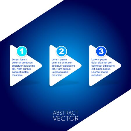 blue backgrounds: Abstract vector arrows Stock Photo