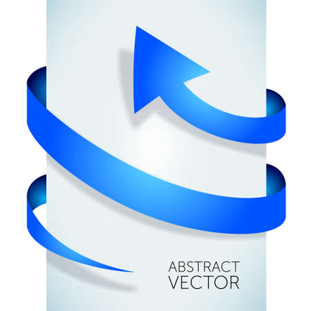 Abstract blue arrow Stock Photo - 18262833