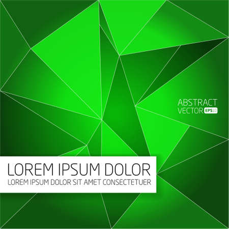 Abstract green vector background  photo