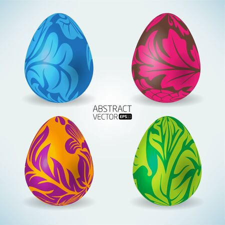 Abstract vector easter eggs  Stock Photo