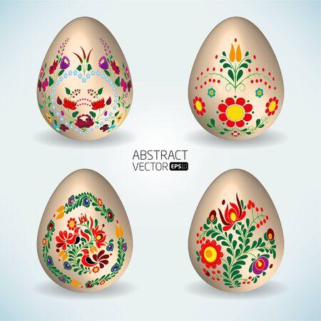 Abstract vector eggs