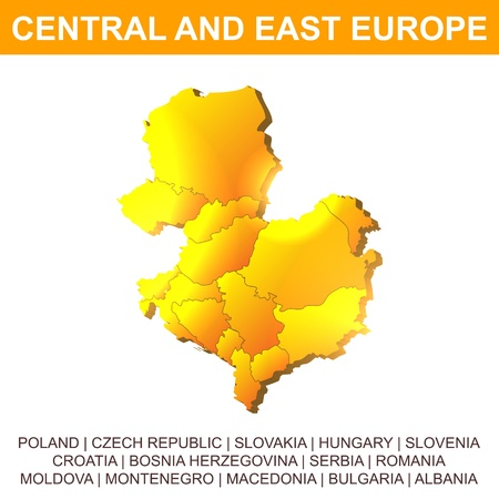 Central and East Europe vector map