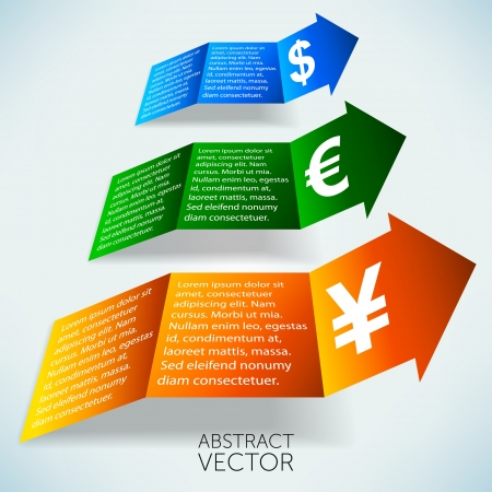 Increasing currency abstract vector background Stock Photo