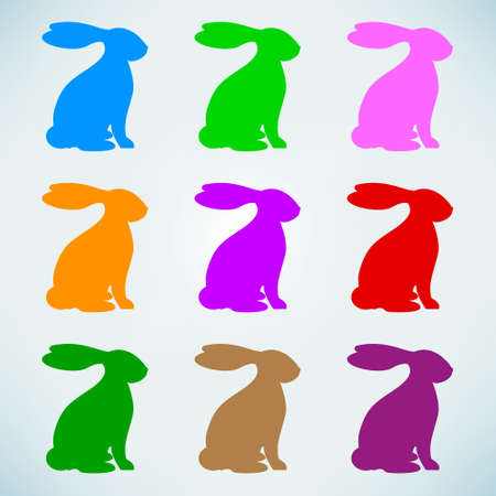 Abstract easter rabbits Illustration