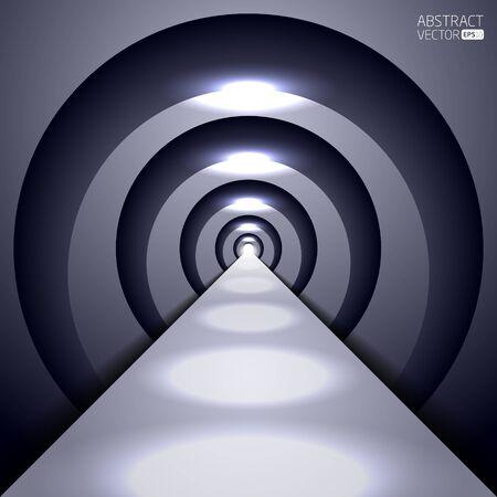 Abstract vector tunnel Illustration