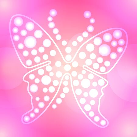 Abstract pink butterfly background