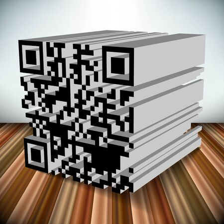 3d qr code vector object Stock Vector - 19166267