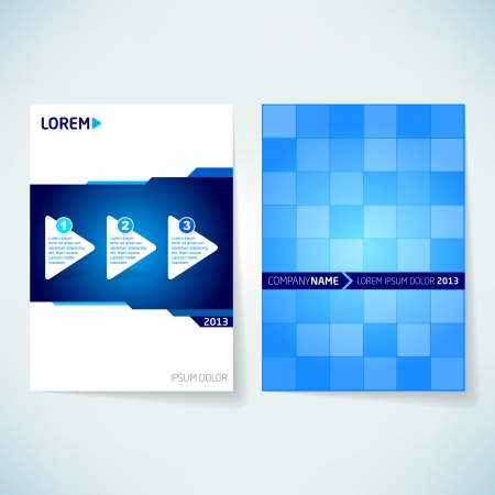 Brochure cover design vector template Illustration