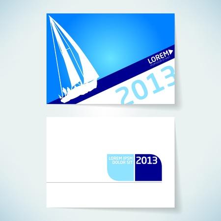 Brochure cover design vector template Illustration