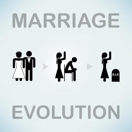 Funny marriage vector symbol