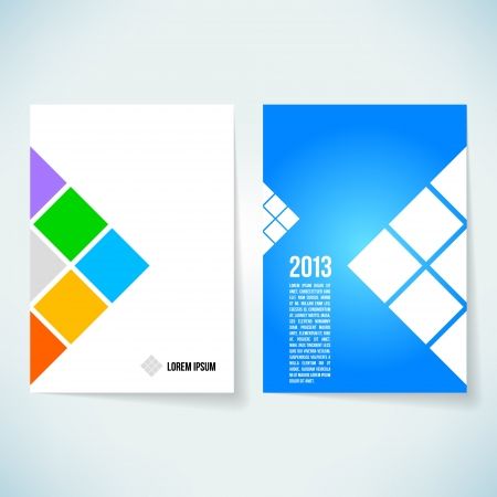 card folder: Brochure cover design vector template Illustration