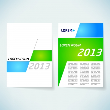 content page: Brochure cover design vector template Illustration