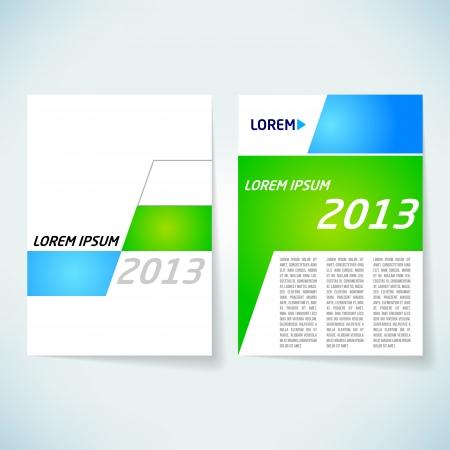 page couverture: Couverture d'une brochure vecteur mod�le de conception