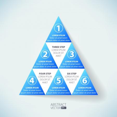 six web website: Abstract vector infographic  Illustration