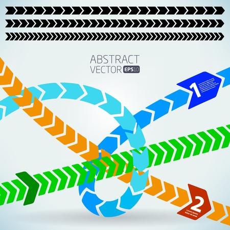 Abstract vector arrows Illustration