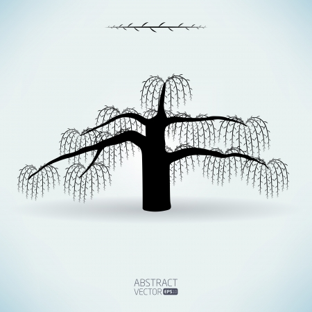 Abstract vector willow tree