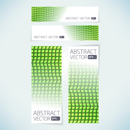 Abstract vector banner background template  Illustration
