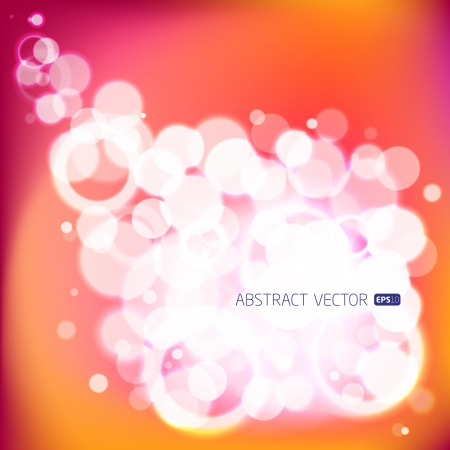 Abstract vector bubbles background  Illustration