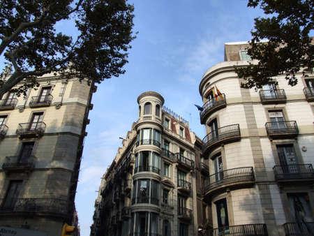Extraordinary building next to the Ramblas in Barcelona. Stock Photo - 689401