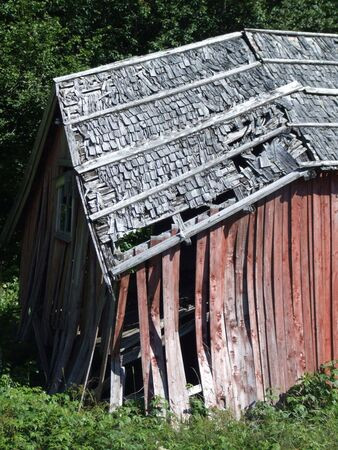 A wooden building that should be demolished. Stock Photo - 689394
