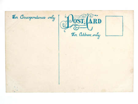 collectible: Vintage postcard. Collectible mail related object. Antique. Stock Photo
