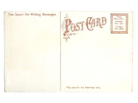 collectibles: Retro postcard. Collectible - mail related object. Antique.