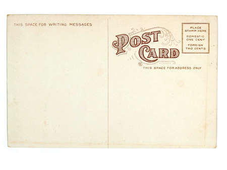 Vintage postcard. Collectible - mail related object. Antique.