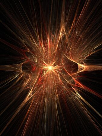 Abstract fractal background. Computer generated graphics. Magic orange explosion. Stock Photo - 780376