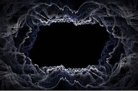 dreadful: Abstract fractal background. Computer generated graphics. Dark and dreadful clouds.