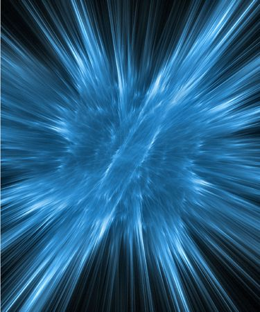 Abstract fractal background. Computer generated graphics. Cold fire explosion. photo