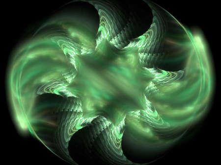 aurora borealis: Abstract fractal background. Computer generated graphics. Aurora borealis variation.