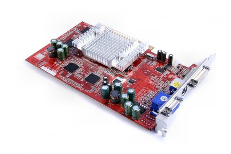 New and powerful computer graphics card. All logos and trademarks are removed. Stock Photo - 943535
