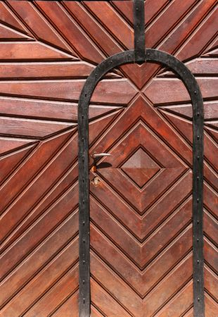 Vintage architecture in Budapest, Hungary. Old wooden door. Stock Photo - 943594
