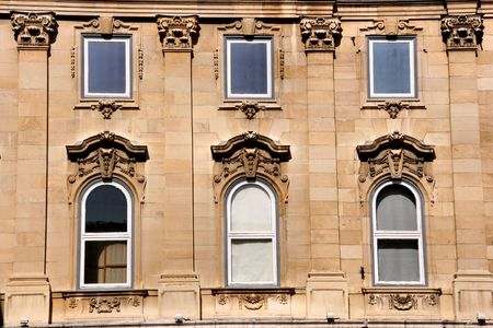 Windows of a museum in Budapest Stock Photo - 943596