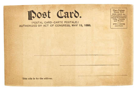 collectible: Vintage postcard. Collectible - mail related object. Antique.