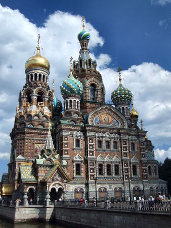 Totally fabulous and astonishing landmark of St. Petersburg. Stock Photo - 999471