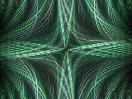 Abstract fractal background. Computer generated graphics. Motion blur light lines. Stock Photo - 999480
