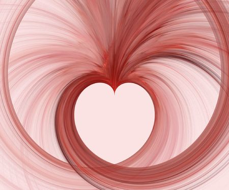 Abstract fractal background. Computer generated graphics. Valentines heart shape. Stock Photo - 1052608