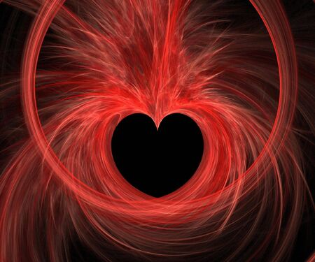 fx: Abstract fractal background. Computer generated graphics. Valentines day heart. Stock Photo
