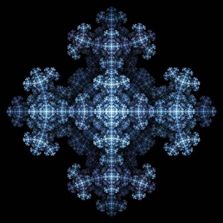 Abstract fractal background. Computer generated graphics. Snowflake intricate pattern. Stock Photo - 1052624