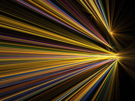 Abstract fractal background. Computer generated graphics. Motion blur light lines. Stock Photo - 1148404