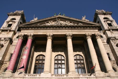 ethnography: Hungarian Museum of Ethnography in Budapest. National landmark.